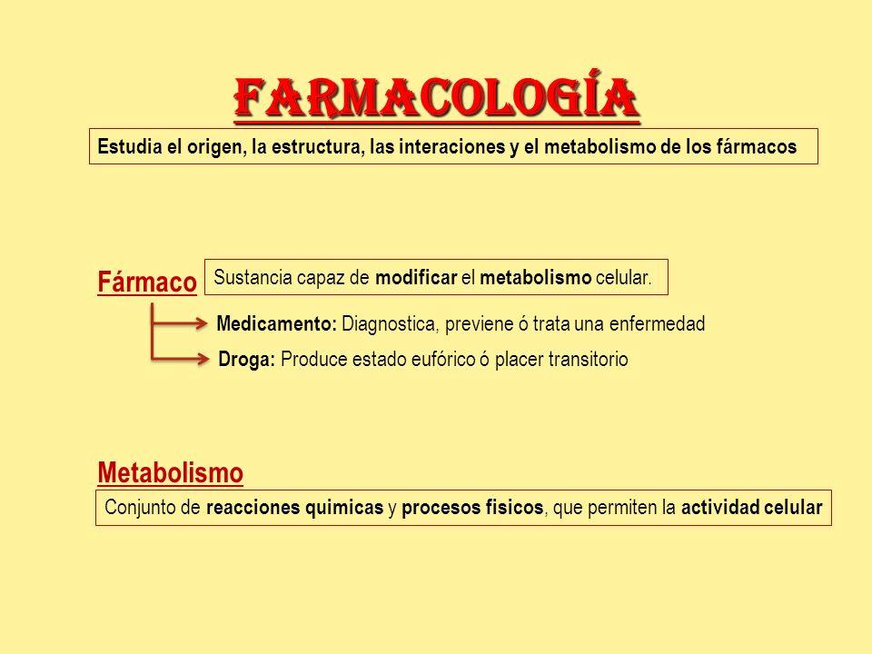 Farmacología Fármaco Metabolismo