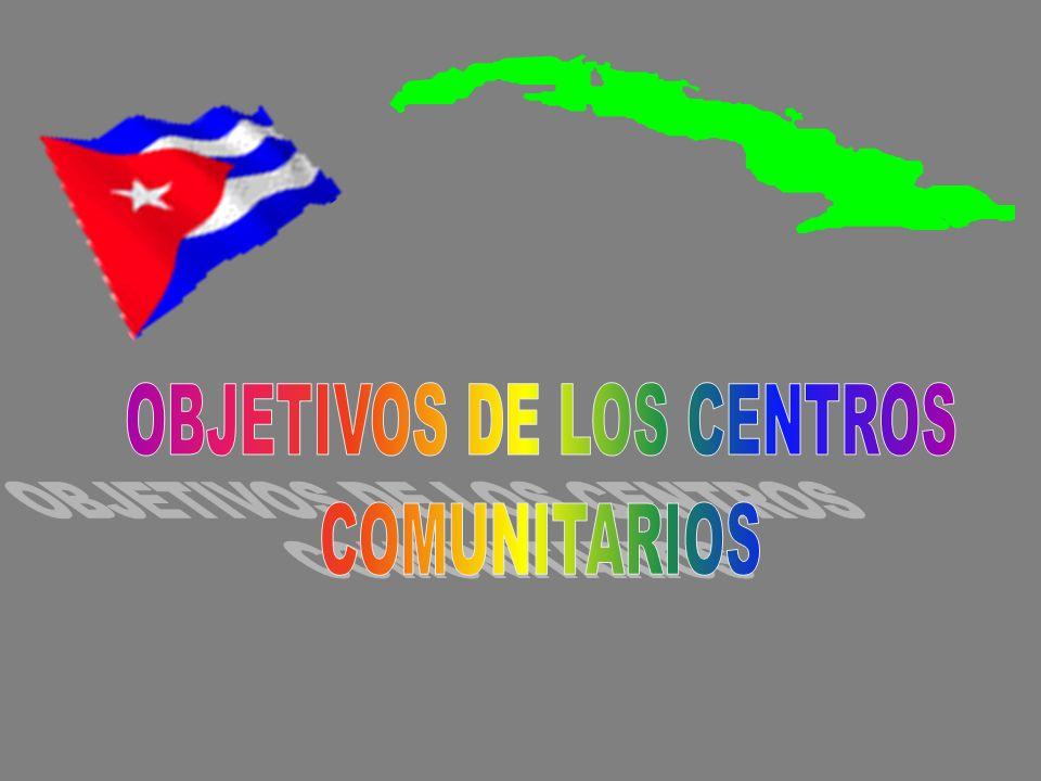 OBJETIVOS DE LOS CENTROS