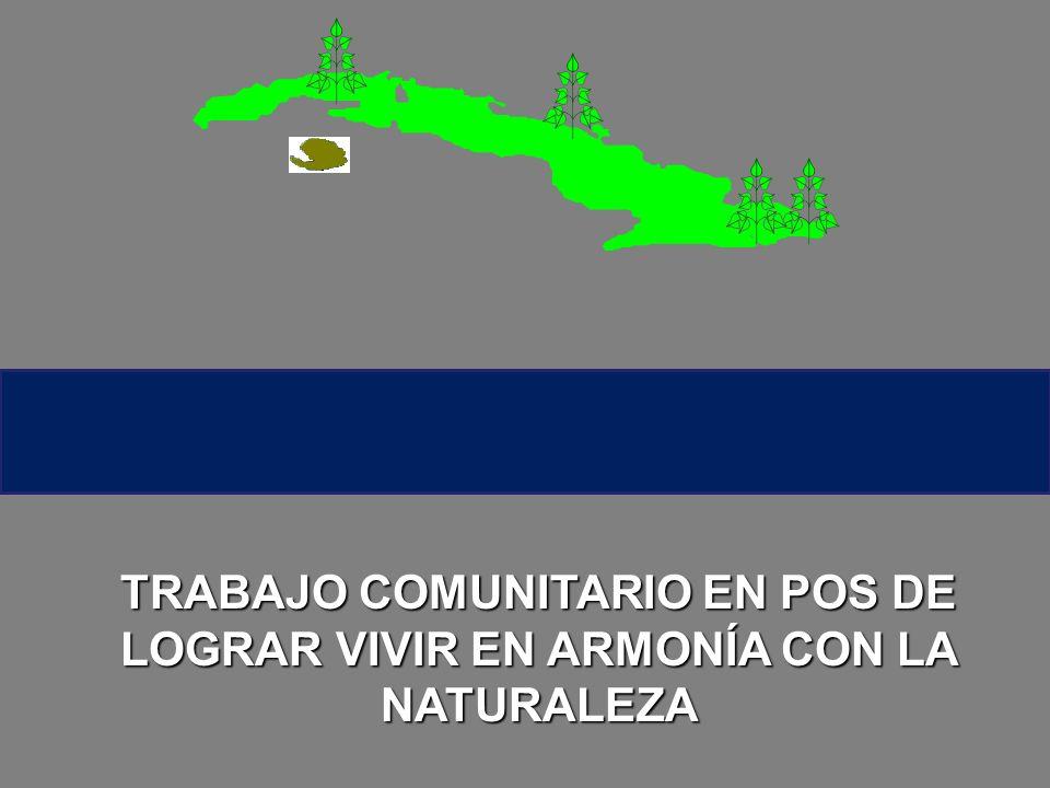 TRABAJO COMUNITARIO EN POS DE LOGRAR VIVIR EN ARMONÍA CON LA NATURALEZA