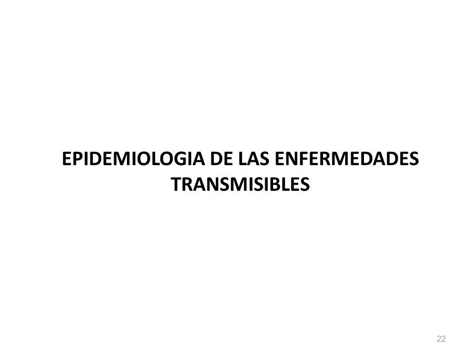 EPIDEMIOLOGIA DE LAS ENFERMEDADES TRANSMISIBLES