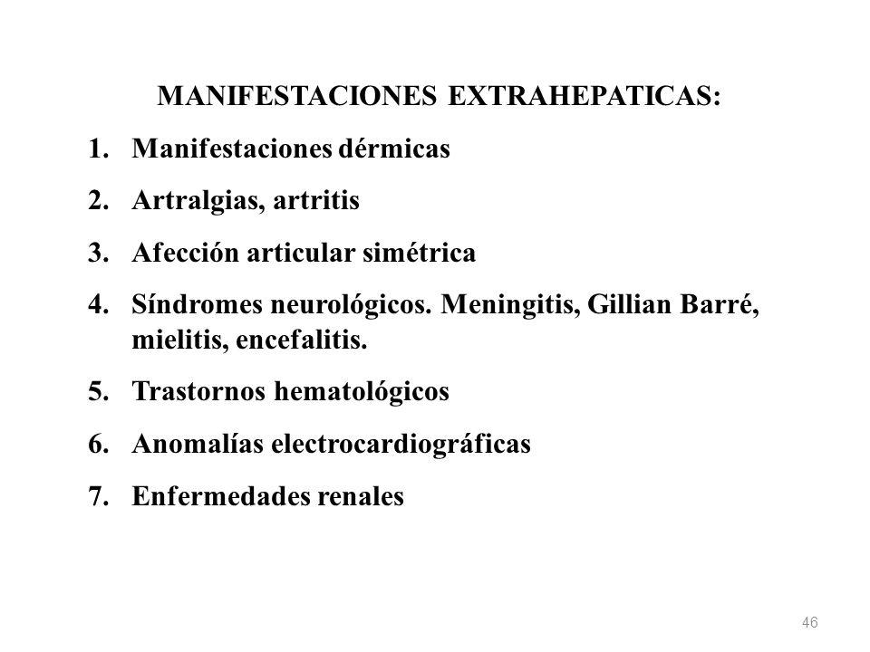 MANIFESTACIONES EXTRAHEPATICAS: