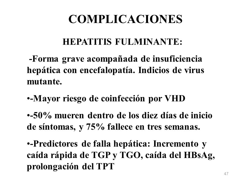 HEPATITIS FULMINANTE: