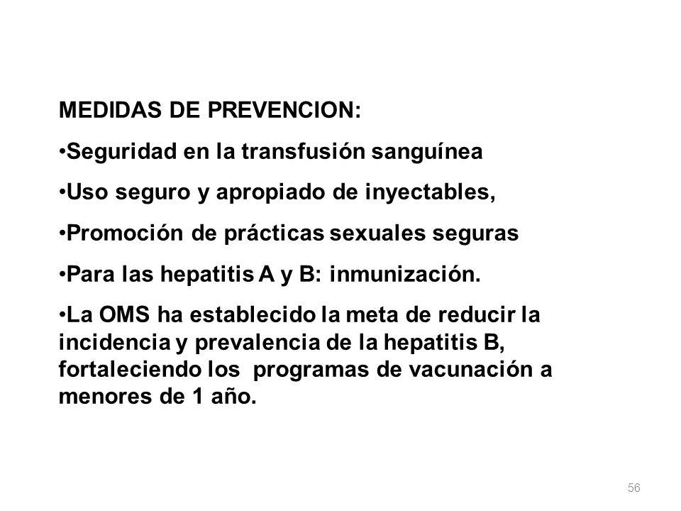 MEDIDAS DE PREVENCION: