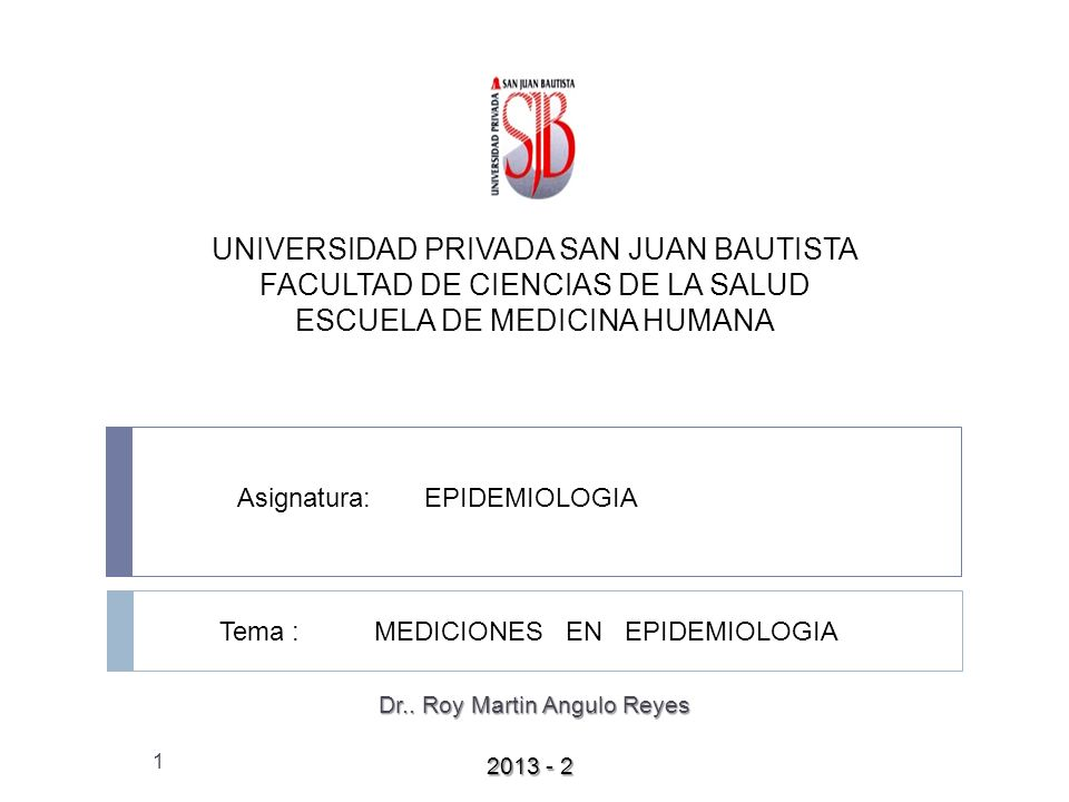 Dr.. Roy Martin Angulo Reyes