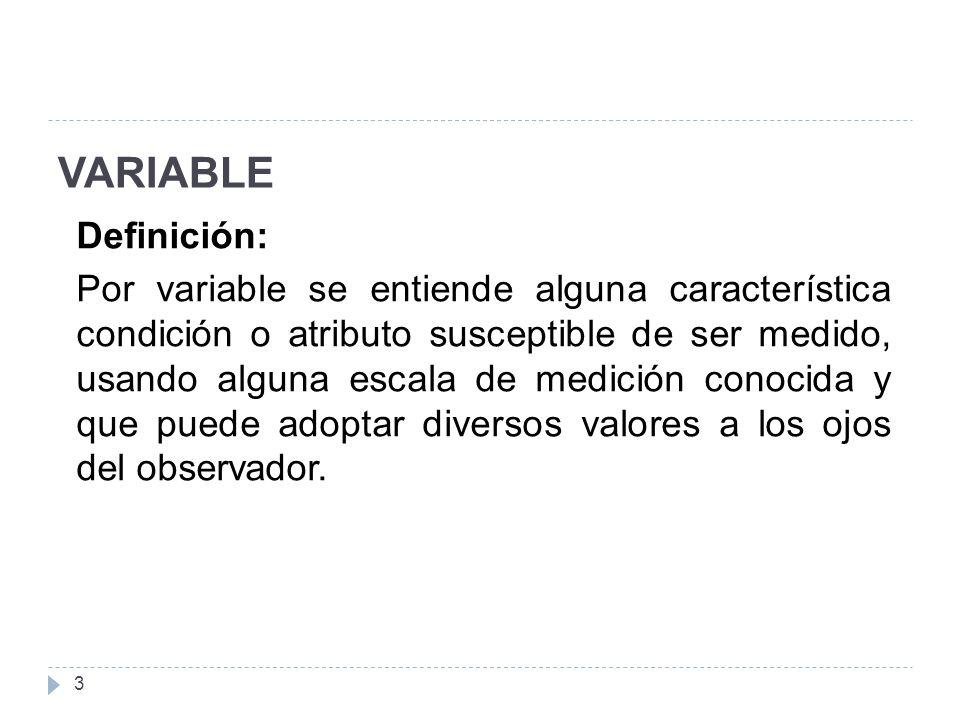 VARIABLE Definición: