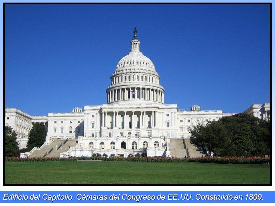 Edificio del Capitolio. Cámaras del Congreso de EE. UU