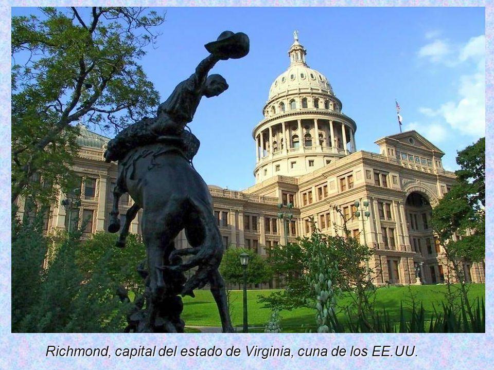 Richmond, capital del estado de Virginia, cuna de los EE.UU.
