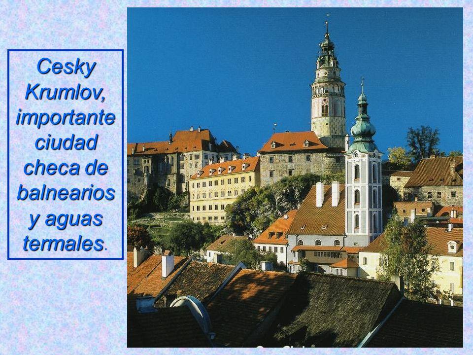Cesky Krumlov, importante ciudad checa de balnearios y aguas termales.