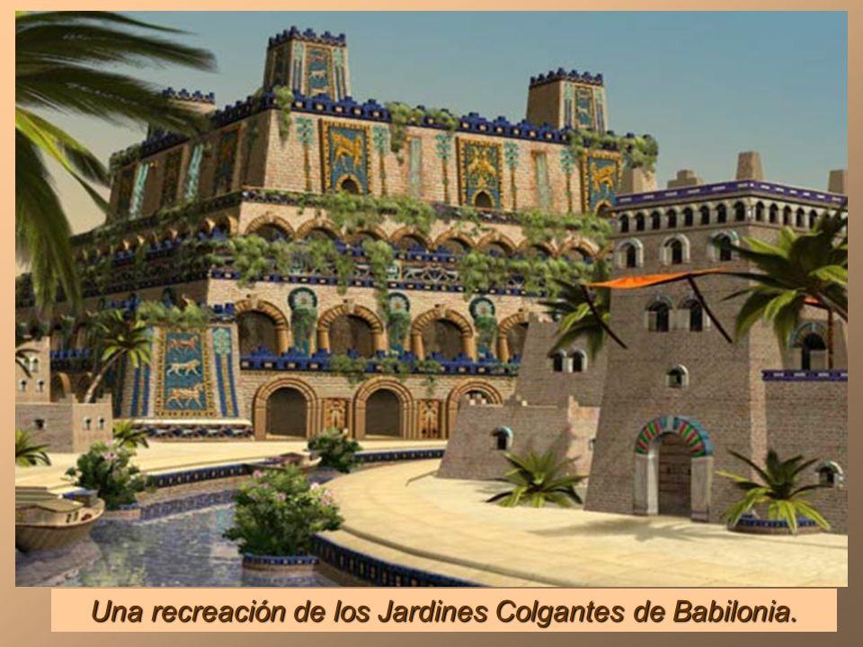 Una recreación de los Jardines Colgantes de Babilonia.