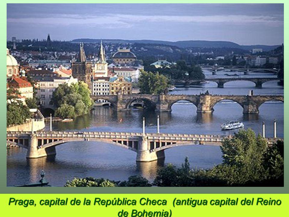 Praga, capital de la República Checa (antigua capital del Reino de Bohemia)