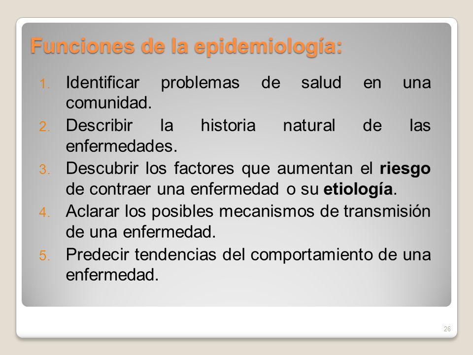 Funciones de la epidemiología: