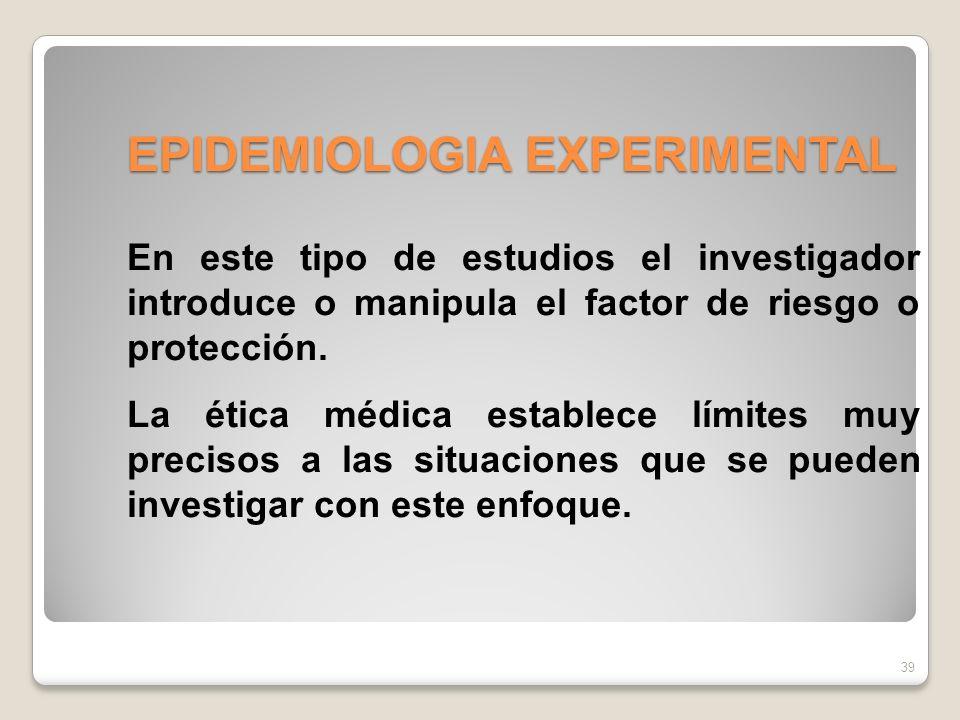 EPIDEMIOLOGIA EXPERIMENTAL