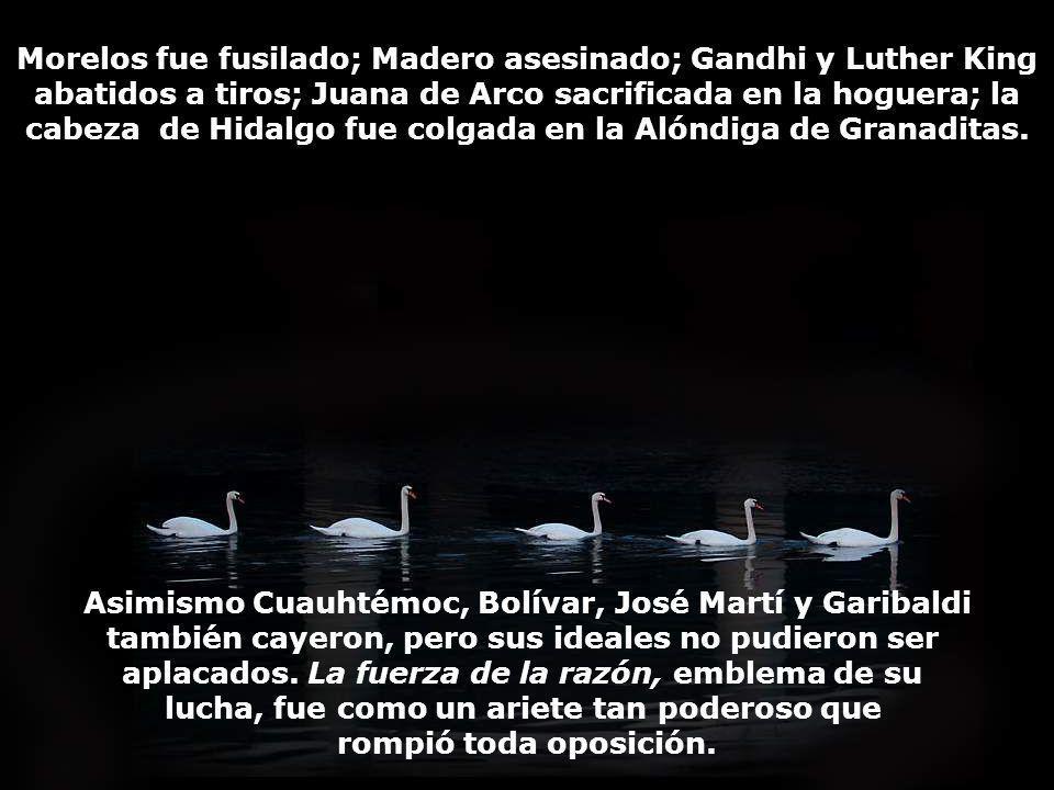 Asimismo Cuauhtémoc, Bolívar, José Martí y Garibaldi