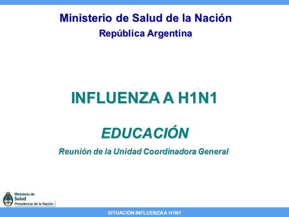 INFLUENZA A H1N1 EDUCACIÓN Ministerio de Salud de la Nación