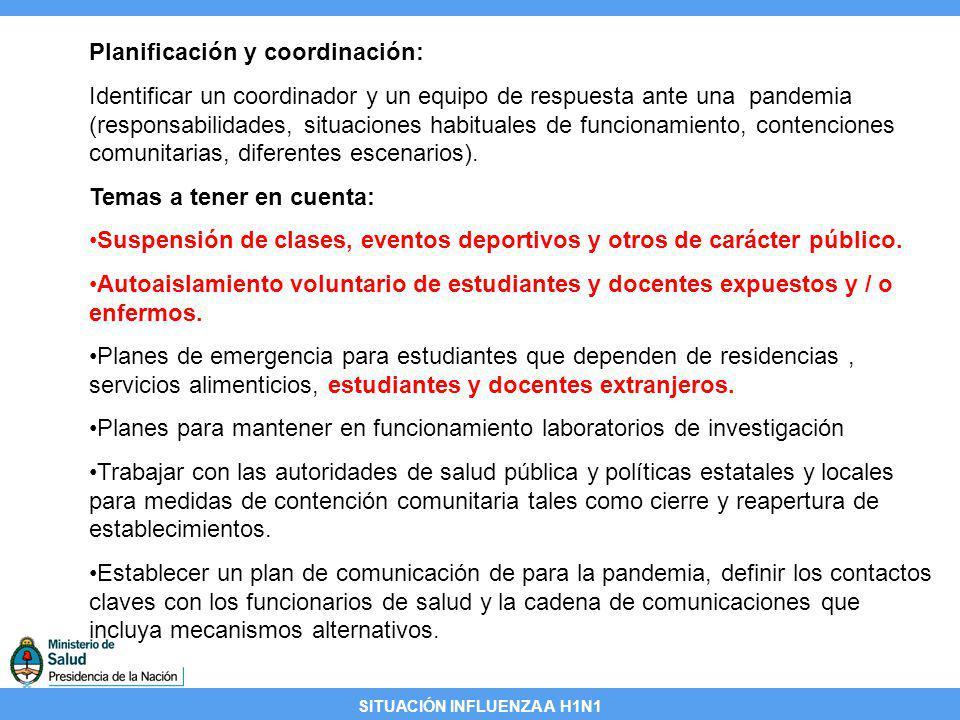 Planificación y coordinación: