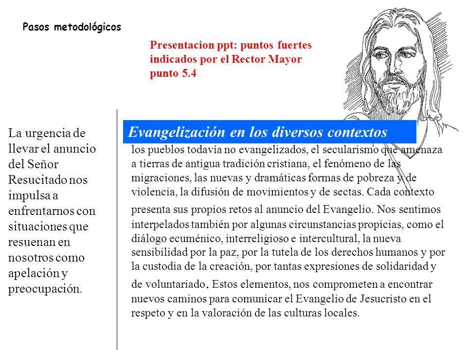 Evangelización en los diversos contextos