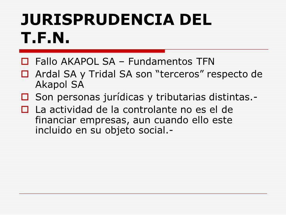 JURISPRUDENCIA DEL T.F.N.