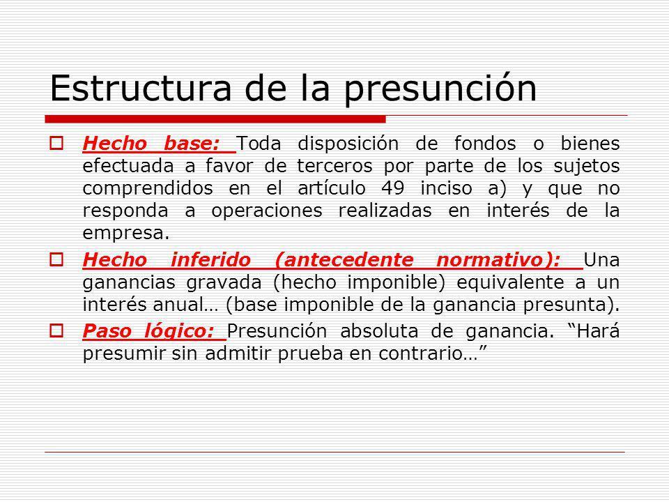 Estructura de la presunción