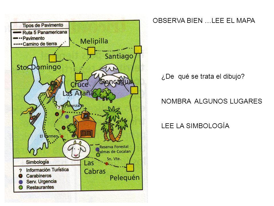 OBSERVA BIEN …LEE EL MAPA