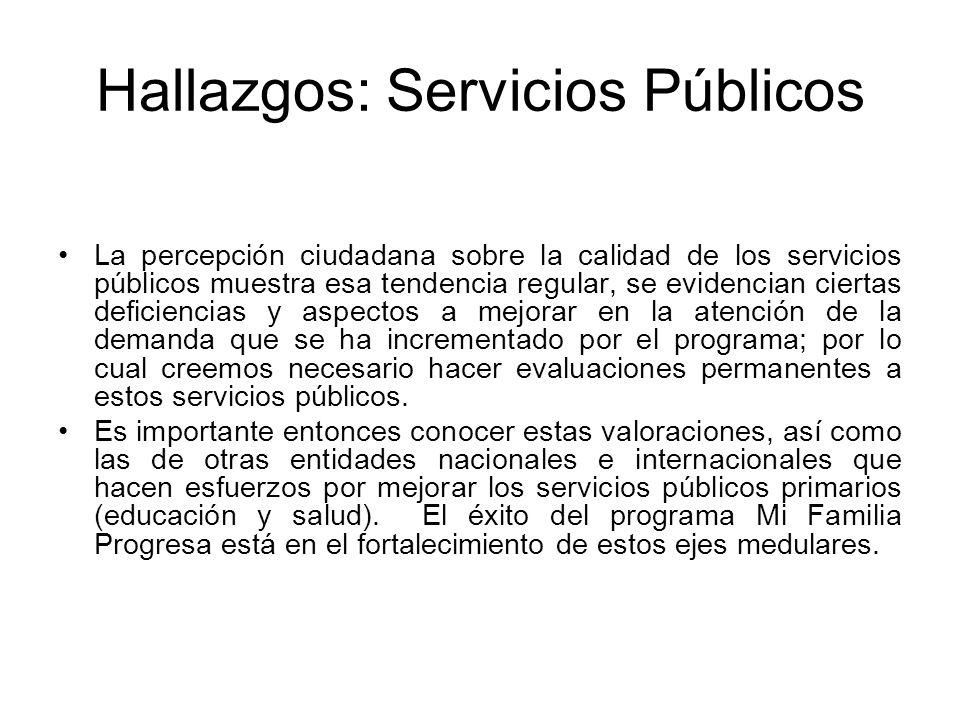 Hallazgos: Servicios Públicos