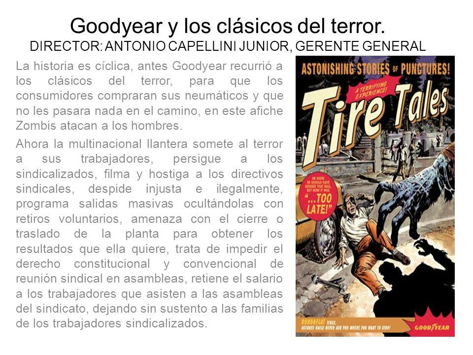 Goodyear y los clásicos del terror