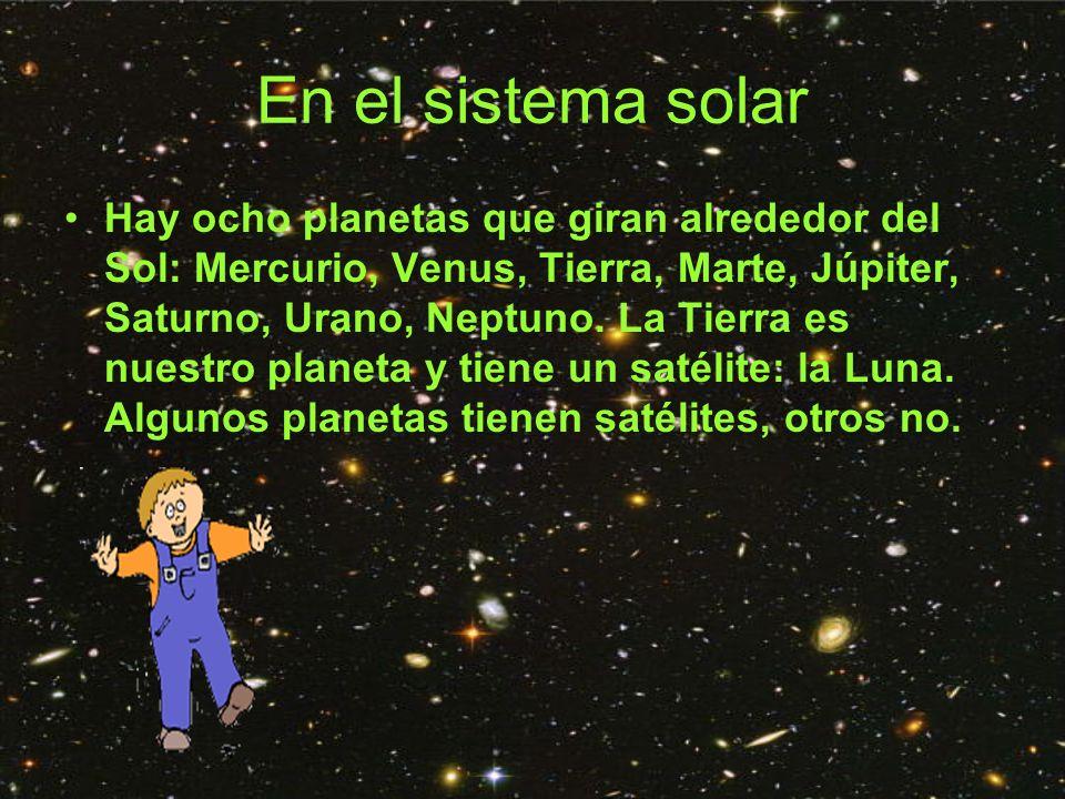 En el sistema solar