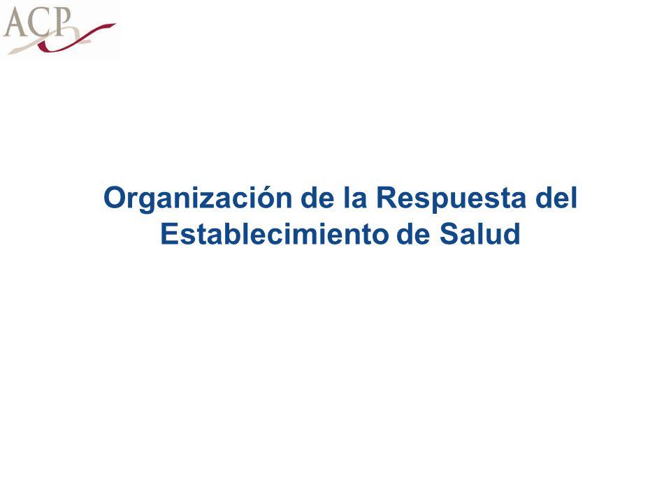 Organización de la Respuesta del Establecimiento de Salud