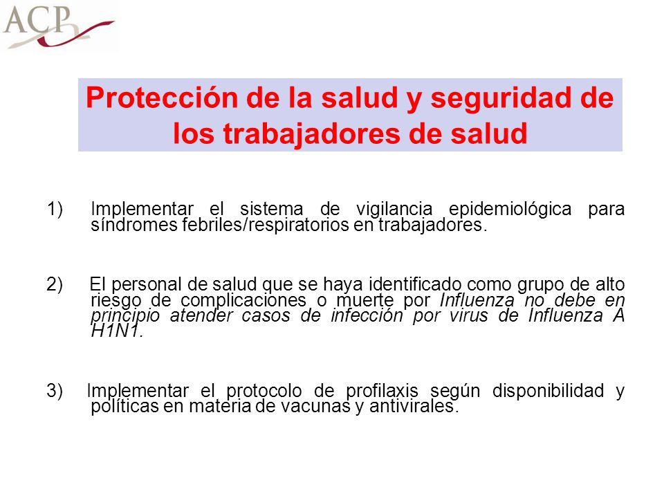 Protección de la salud y seguridad de los trabajadores de salud