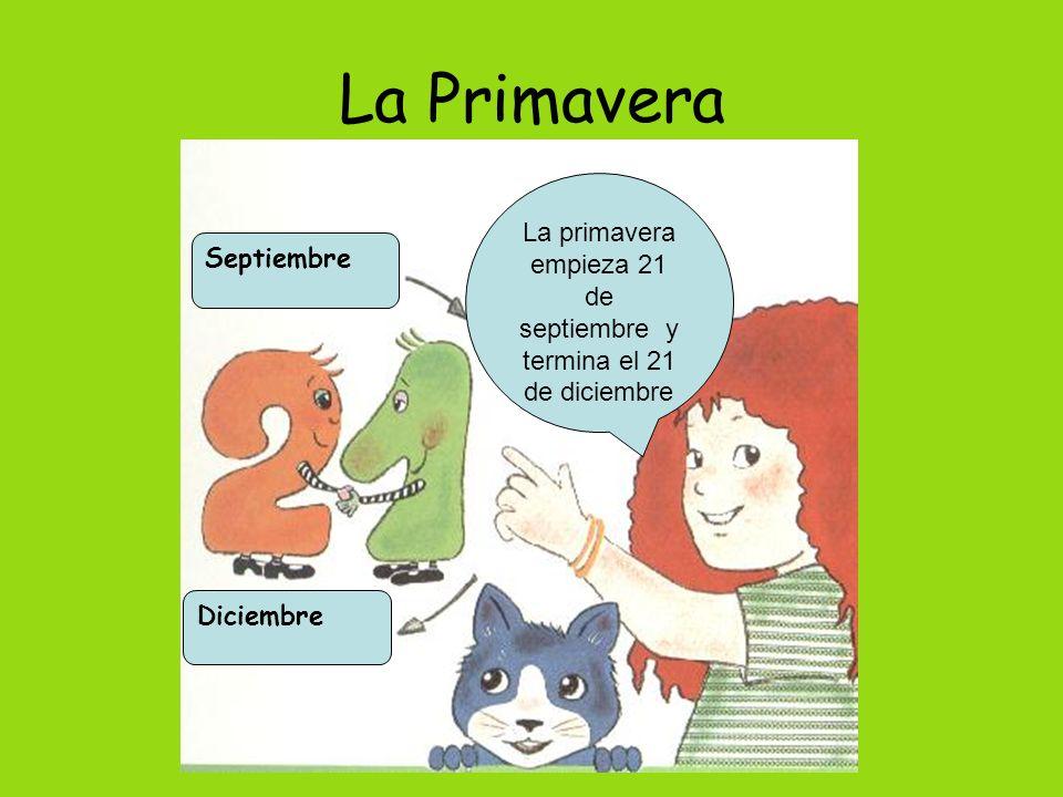 La primavera empieza 21 de septiembre y termina el 21 de diciembre
