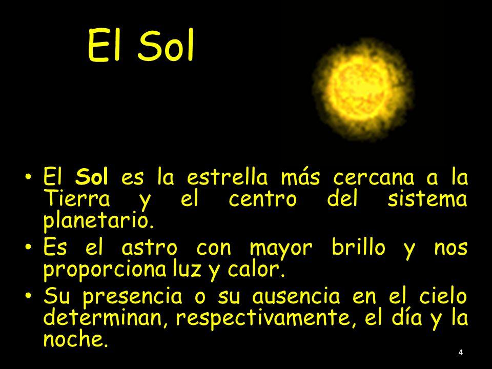 El SolEl Sol es la estrella más cercana a la Tierra y el centro del sistema planetario. Es el astro con mayor brillo y nos proporciona luz y calor.