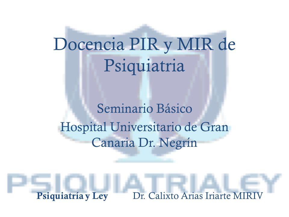 Docencia PIR y MIR de Psiquiatria