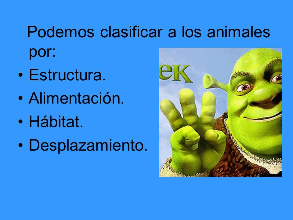 Podemos clasificar a los animales por: