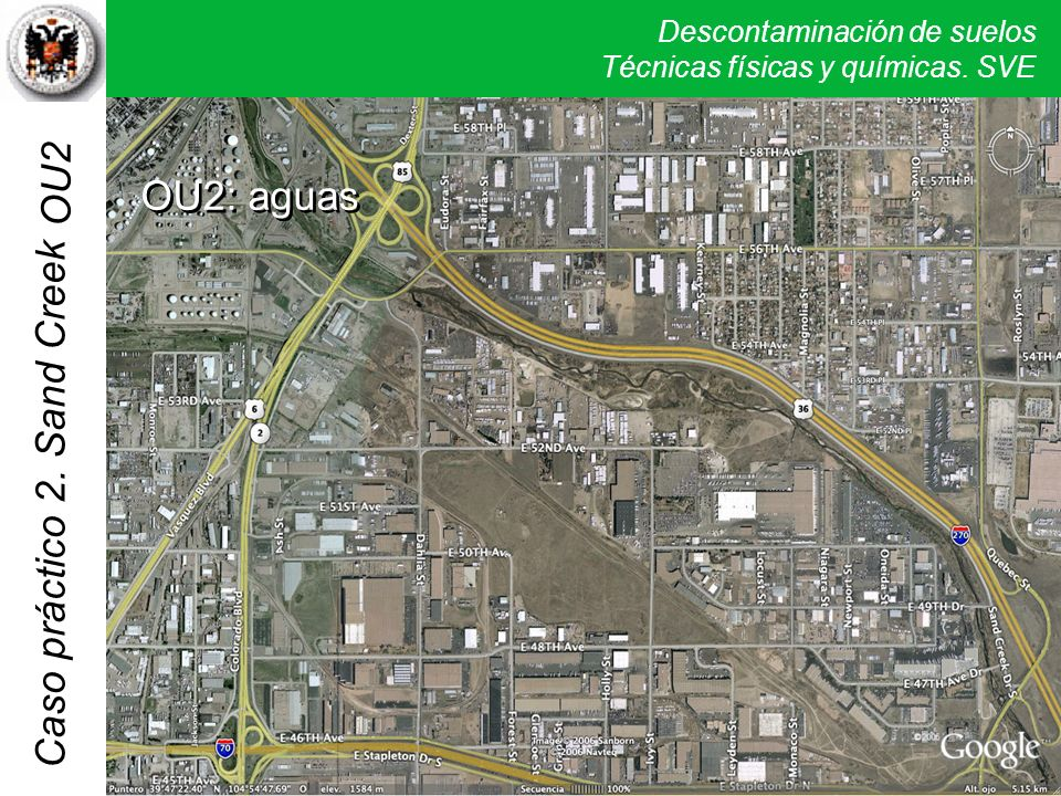 OU2: aguas OU2 La OU2 ocupa una amplia zona en la parte central, con varios acuíferos contaminados