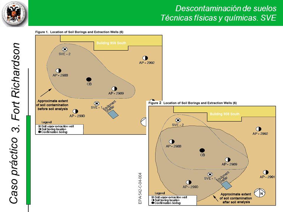 3. Fort Richardson Rectificación del área de suelo contaminado tras el análisis de las muestras de suelo de los sondeos.