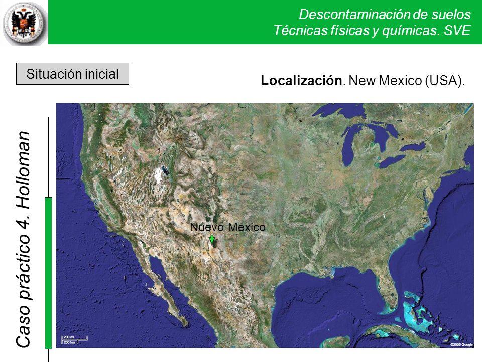 4. Holloman Situación inicial Localización. New Mexico (USA).