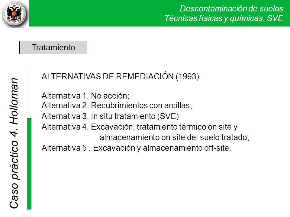 4. Holloman Tratamiento ALTERNATIVAS DE REMEDIACIÓN (1993)