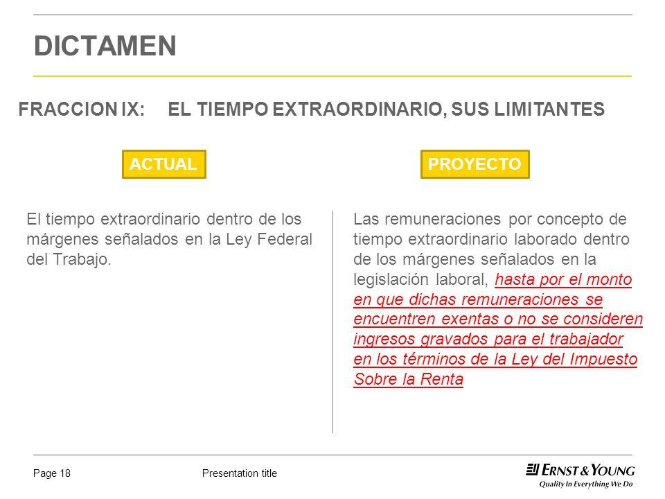DICTAMEN FRACCION IX: EL TIEMPO EXTRAORDINARIO, SUS LIMITANTES ACTUAL