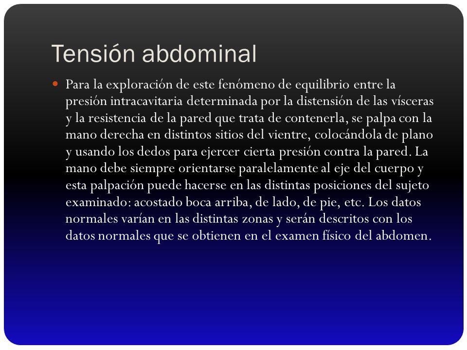 Tensión abdominal