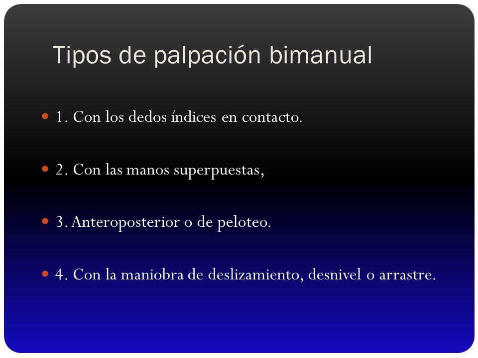 Tipos de palpación bimanual