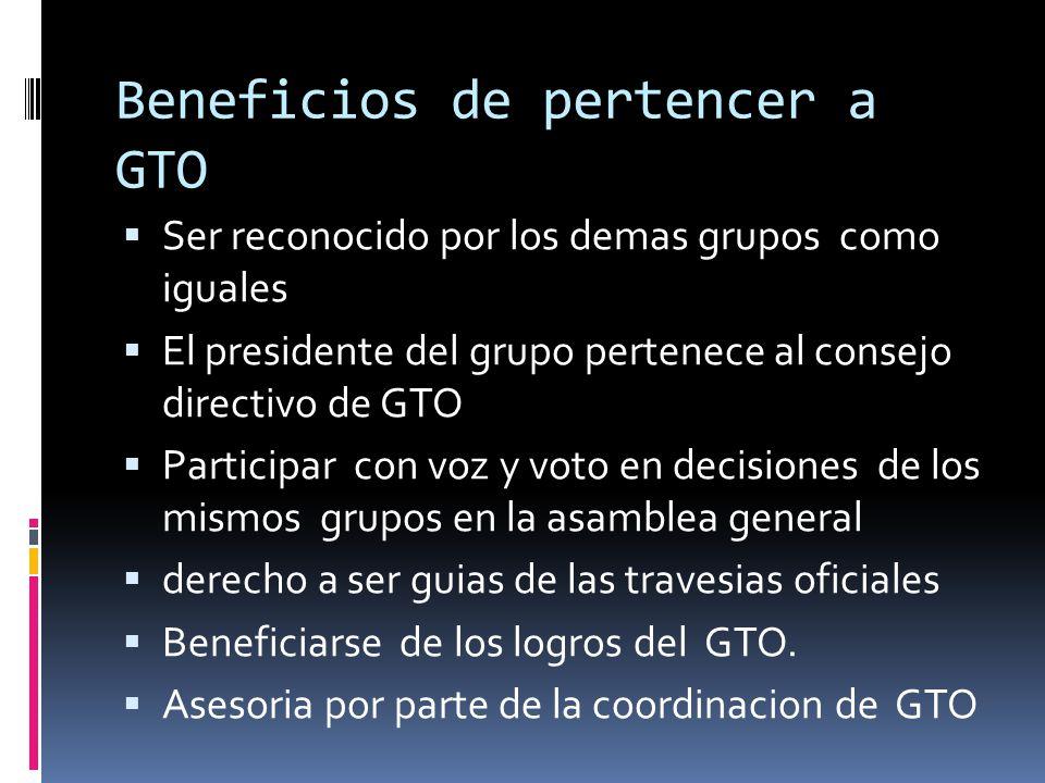 Beneficios de pertencer a GTO