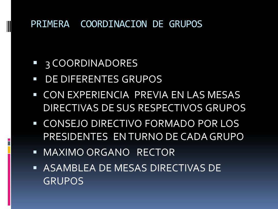 PRIMERA COORDINACION DE GRUPOS