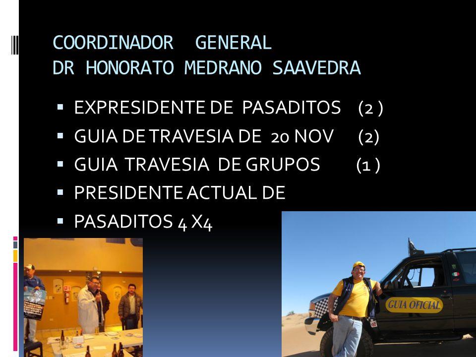 COORDINADOR GENERAL DR HONORATO MEDRANO SAAVEDRA