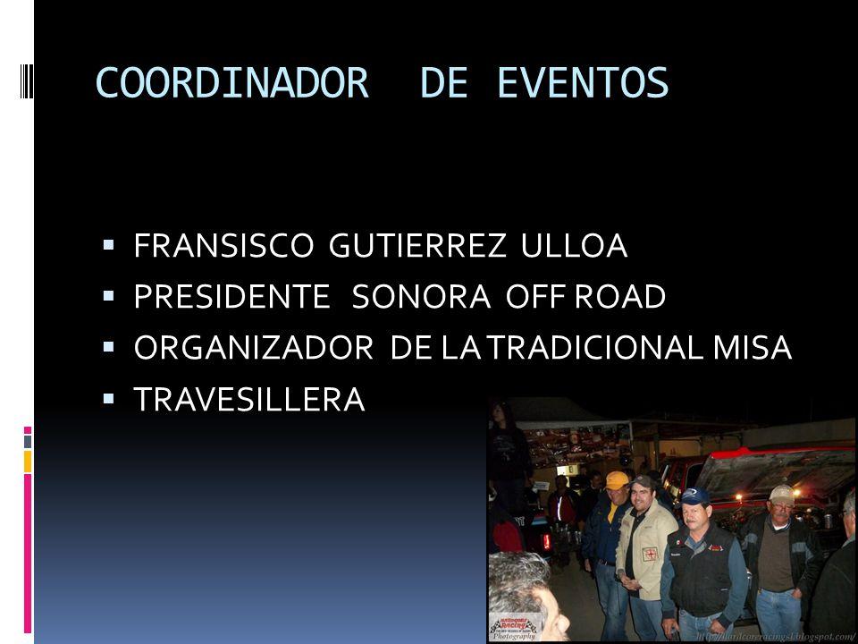 COORDINADOR DE EVENTOS