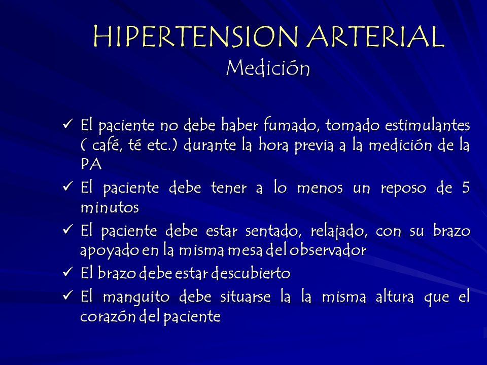 HIPERTENSION ARTERIAL Medición