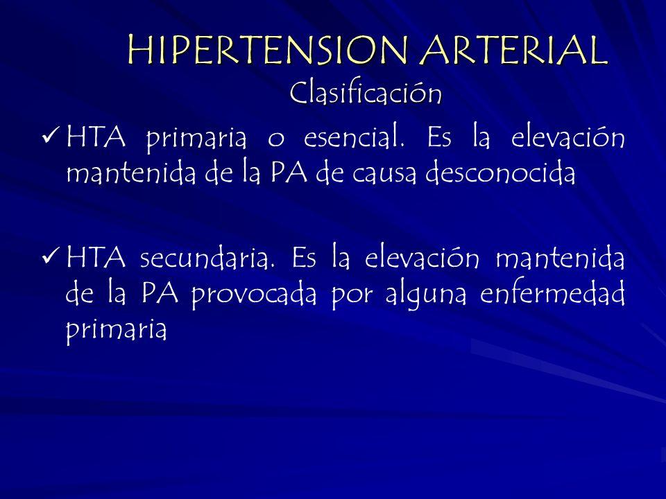 HIPERTENSION ARTERIAL Clasificación