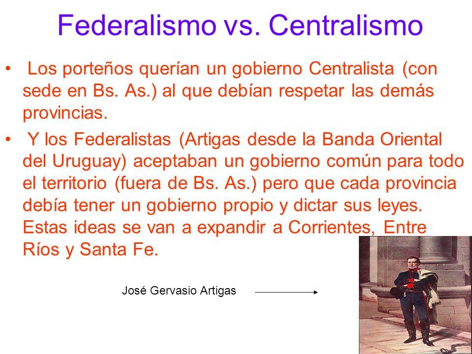 Federalismo vs. Centralismo