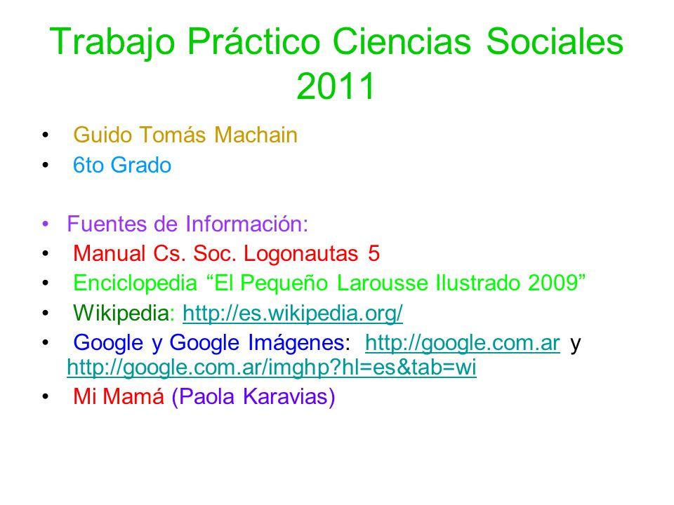 Trabajo Práctico Ciencias Sociales 2011