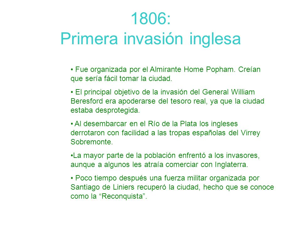 1806: Primera invasión inglesa
