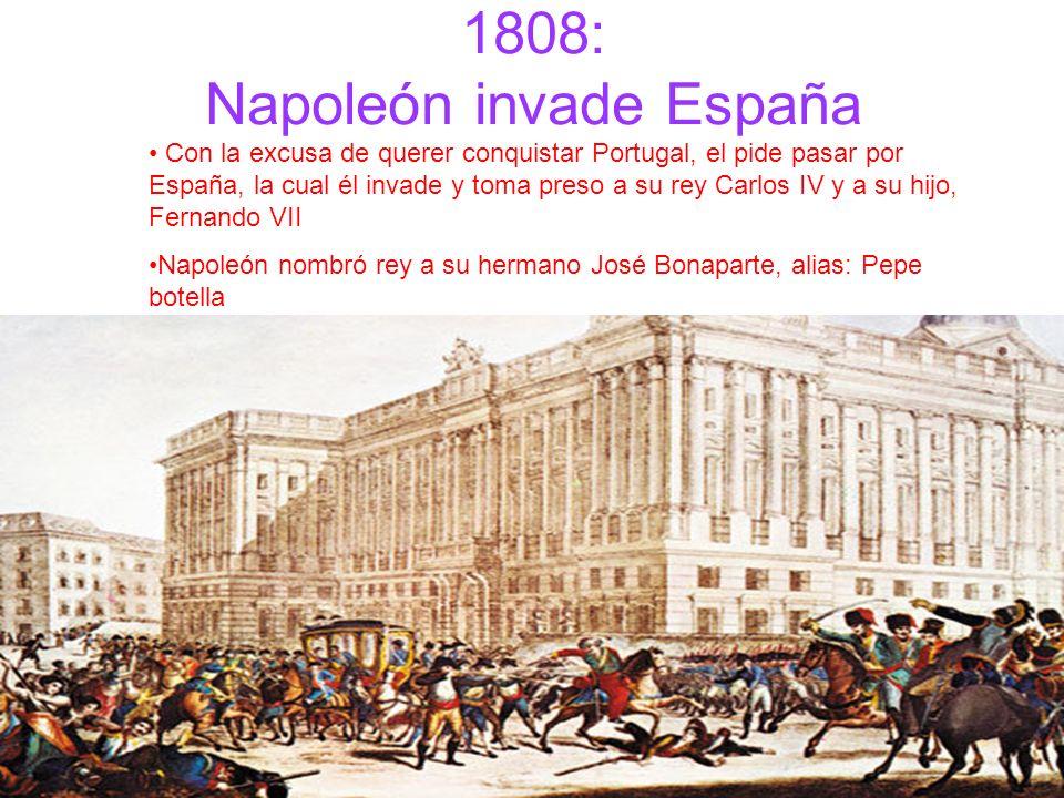 1808: Napoleón invade España