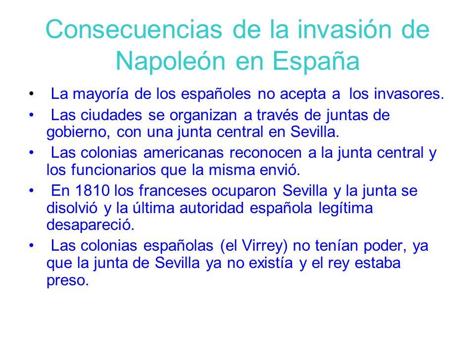 Consecuencias de la invasión de Napoleón en España